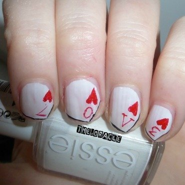 LOVE Playing Cards nail art by The_Oracle