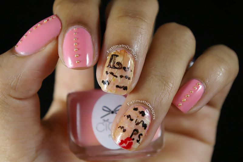 Love Letter nail art by Fatimah
