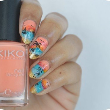 Sunset nails nail art by MimieS Nail
