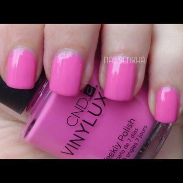 Cnd Vinylux Hot Pink 121 Swatch by Nailsenkha