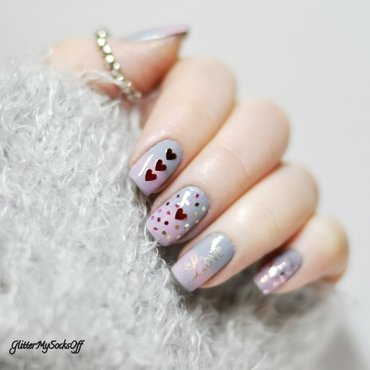 Love is in the air nail art by GlitterMySocksOff