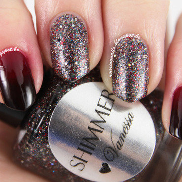 Let's Get Vampy with Shimmer Polish Vanessa! nail art by Robin