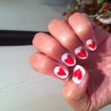 Valentine day nail art by Ruchi