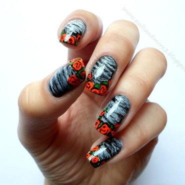 secret roses nail art by Edyta