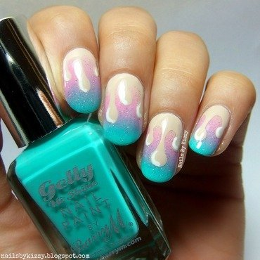 Rainbows & Unicorns! nail art by Kizzy
