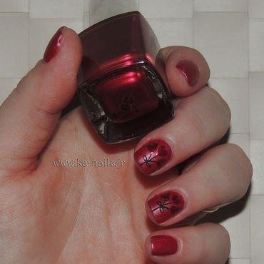 Bouquet de Cœurs Rouges nail art by Ka'Nails