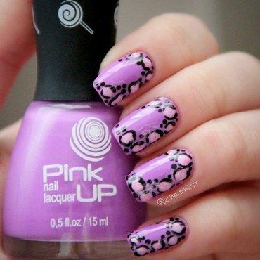 violet leopard nail art by cheshirrr