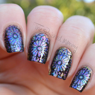 Psychedelic Stained Glass nail art by The Polished Mommy