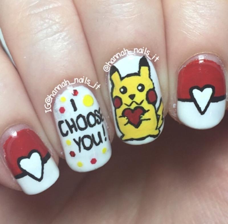 I Choose You! nail art by Hannah