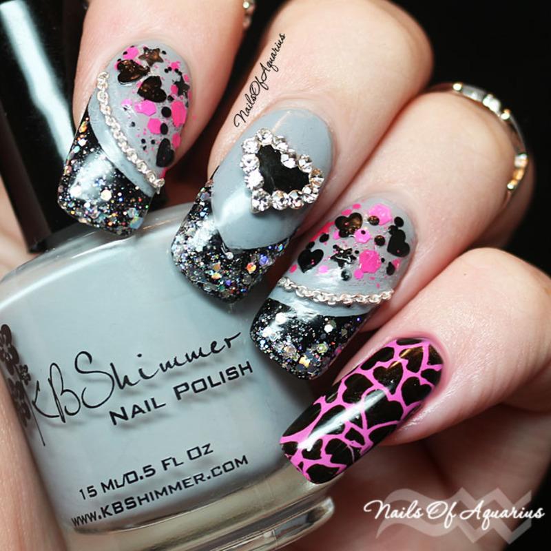 Tough Love nail art by Karolyn