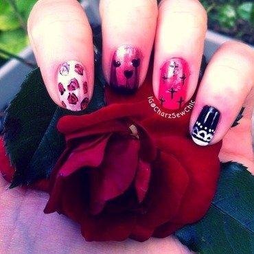 Rock goddess nail art by Charlotte Speller