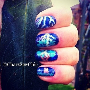 Lightning tree nail art by Charlotte Speller