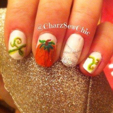 Cinderella nail art by Charlotte Speller