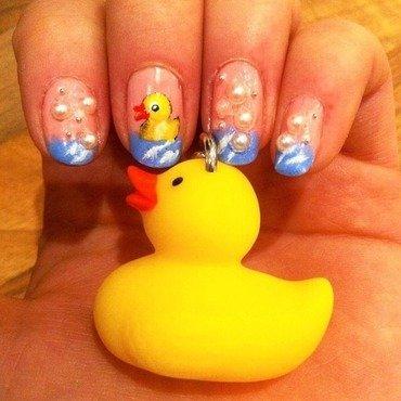 Rubber Ducky  nail art by Charlotte Speller