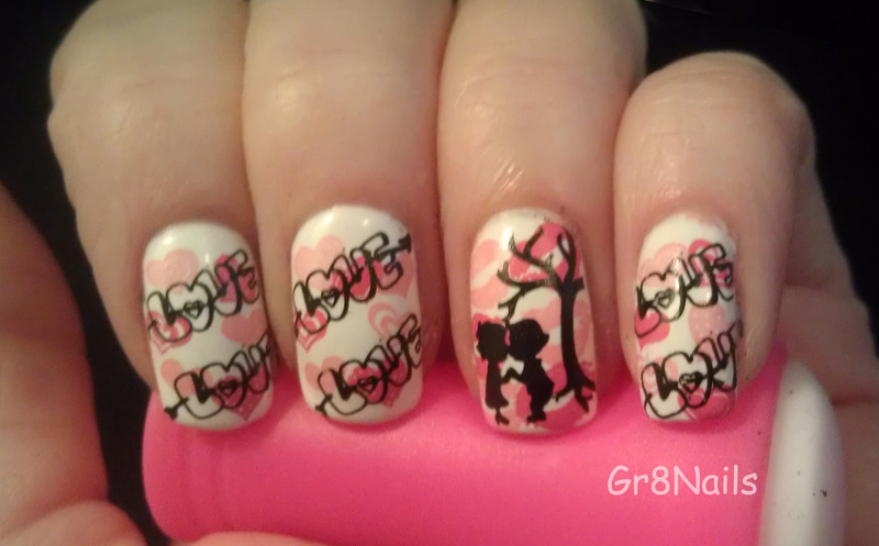 Be My Valentine nail art by Gr8Nails