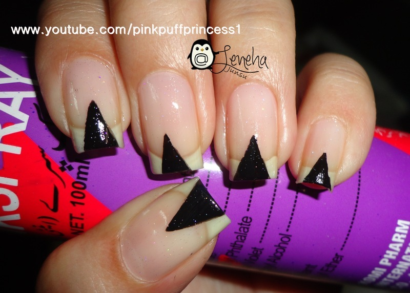Triangles Nail Art  nail art by Leneha Junsu