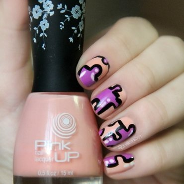 puzzles nail art by cheshirrr