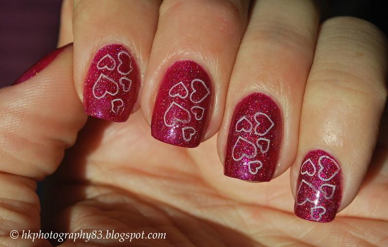 SpaRitual Valentine Challenge nail art by Hana K.