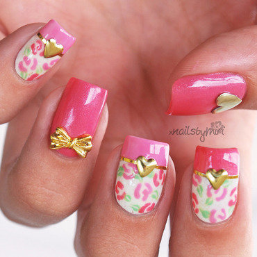 Pink Valentine nail art by xNailsByMiri