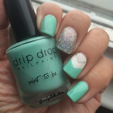 Mint To Be ! nail art by Marilyn