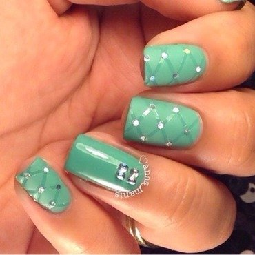 Quilted nails nail art by anas_manis