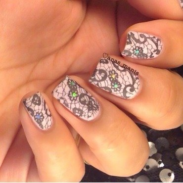 Sexy lace nail art by anas_manis