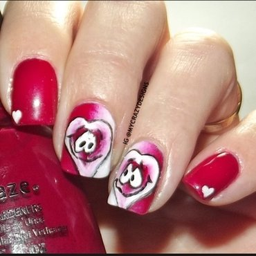 Valentine's Day nails II nail art by Mycrazydesigns