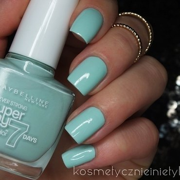 Maybelline Super Stay 7 Days 615 Mint For Life Swatch by Karola