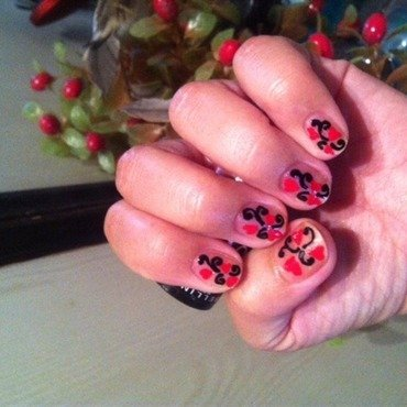 Valentine party nail art by Ruchi