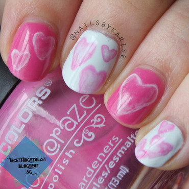 Hpb feb valentines water spotted hearts nail art thumb370f