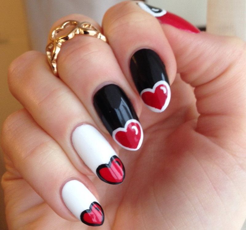 Heart Tips nail art by MyMintNails