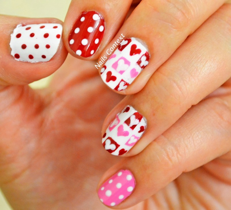 Valentines Day nail art by NailsContext