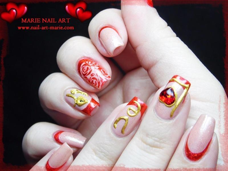 Valentine\'s Day Nail Design nail art by Marie Nail Art - Nailpolis ...