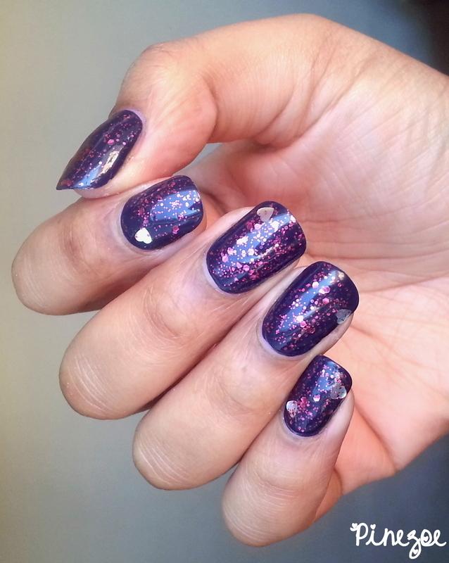 Simple valentine's nails nail art by Pinezoe