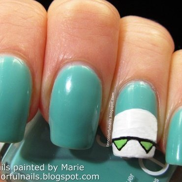 Marvin the Robot Nail Art nail art by Marie