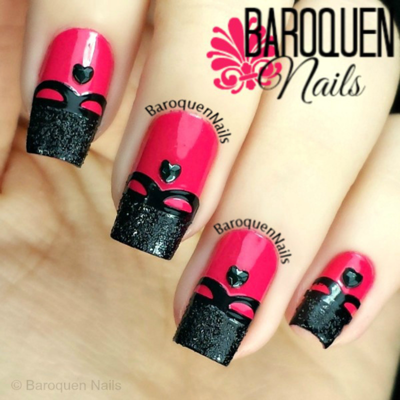Date Night nail art by BaroquenNails