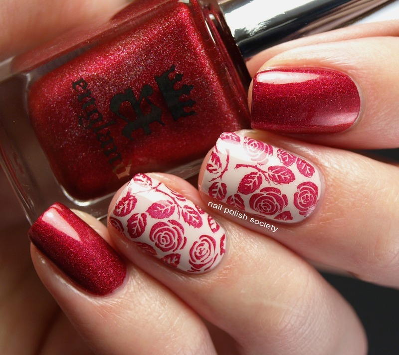 A England Rose Bower By Any Other Name Nail Art By Emiline Harris