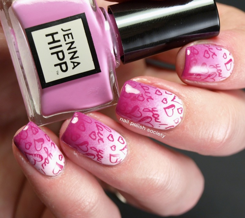 Fade Into You Valentine Gradient nail art by Emiline Harris