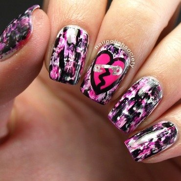 Punk You Valentine's Day! nail art by Emiline Harris