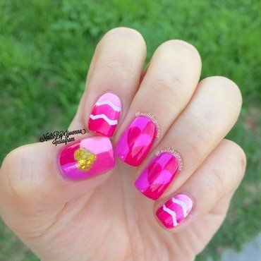 Valentine Hearts nail art by Jonna Dee
