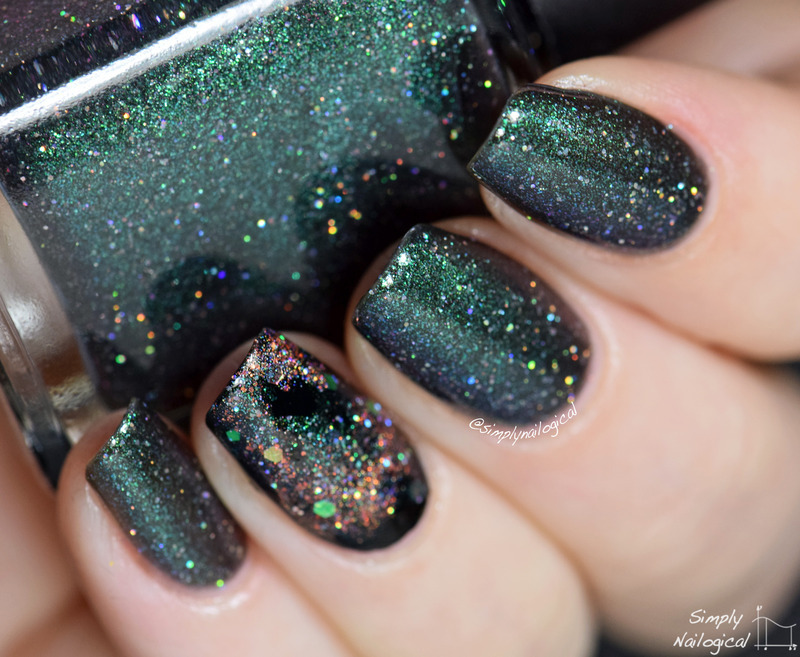 Polished By Kpt Wreath for the Stars Swatch by simplynailogical