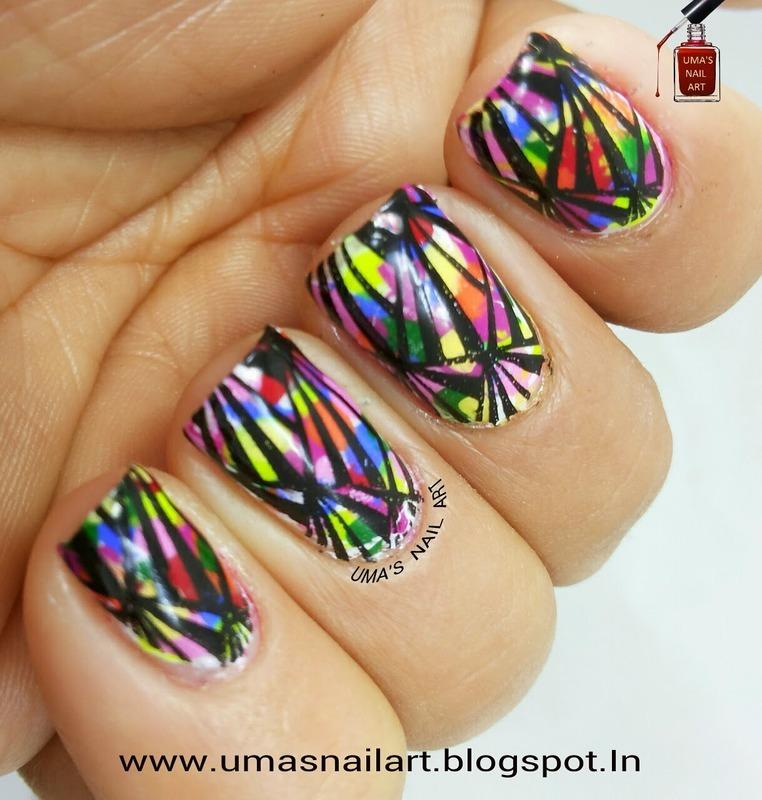 Artwork nail art by Uma mathur