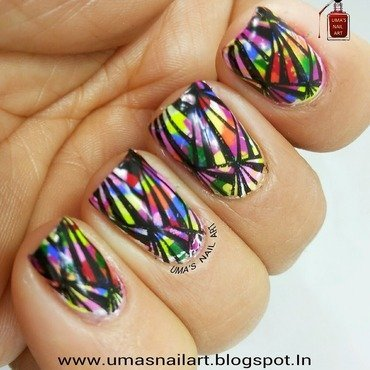 Artwork nail art by Uma mathur