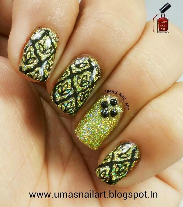 Party Nails nail art by Uma mathur