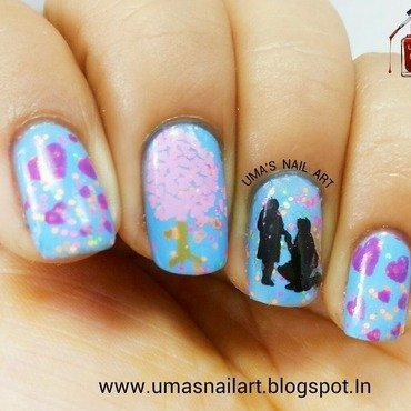 Propose Day Nails... valentine week... nail art by Uma mathur