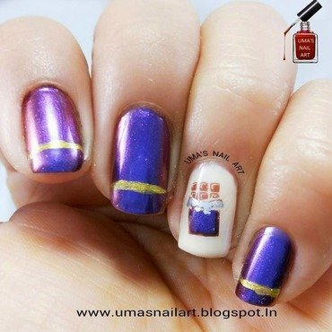 Chocolate Day Nail Art...Valentine Week nail art by Uma mathur