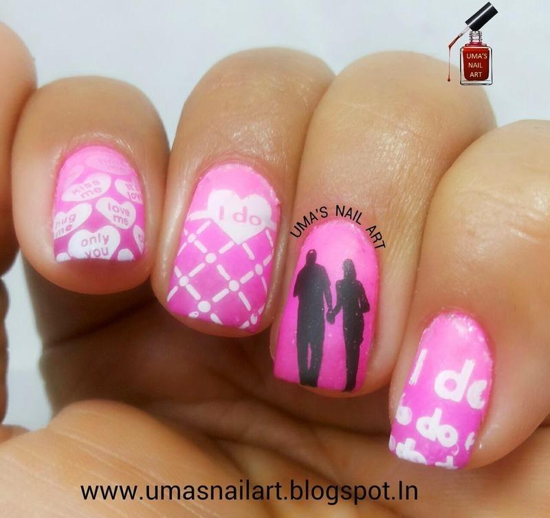 Promise Day Nail Art...Valentine Week nail art by Uma mathur