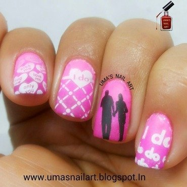 Promise Day Nail Art...Valentine Week nail art by Uma mathur