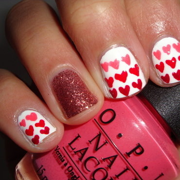 ombred hearts nail art by Jessica