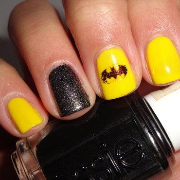 Batman nail art by Jessica